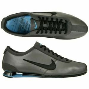Nike shox men running Rivalry shoes silver black